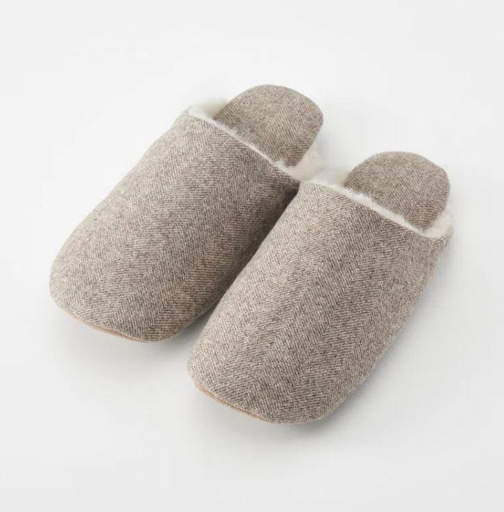 Muji Wool Boa Slippers £19.95