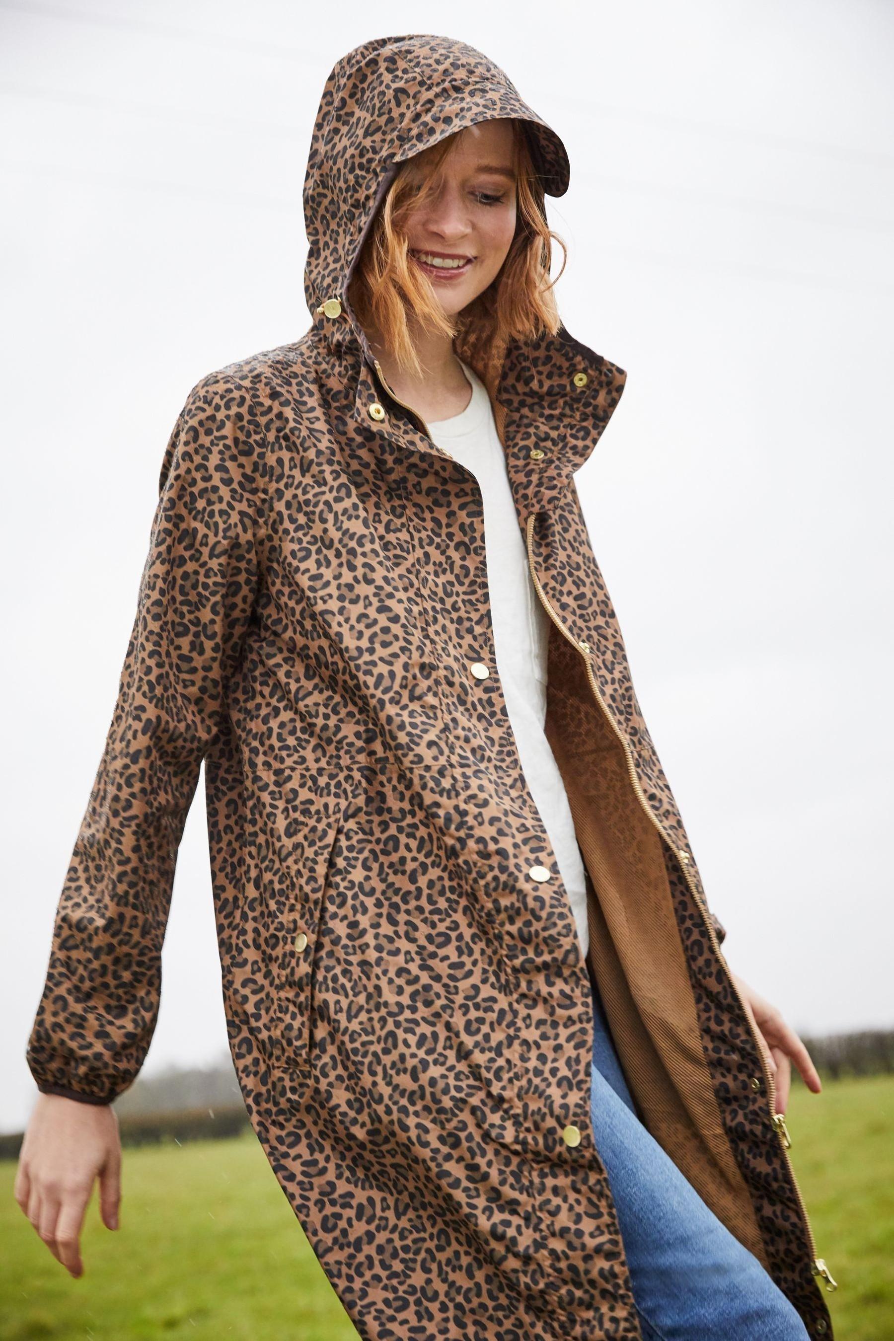 Next Joules Brown Waybridge Waterproof Raincoat with Mesh Lining £60