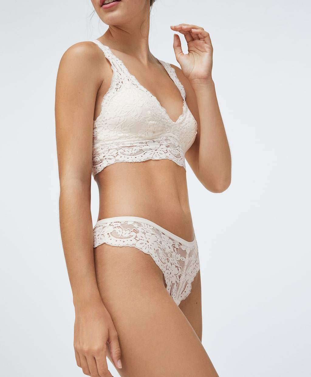 Oysho Halter style bralette with removable cups £19.99