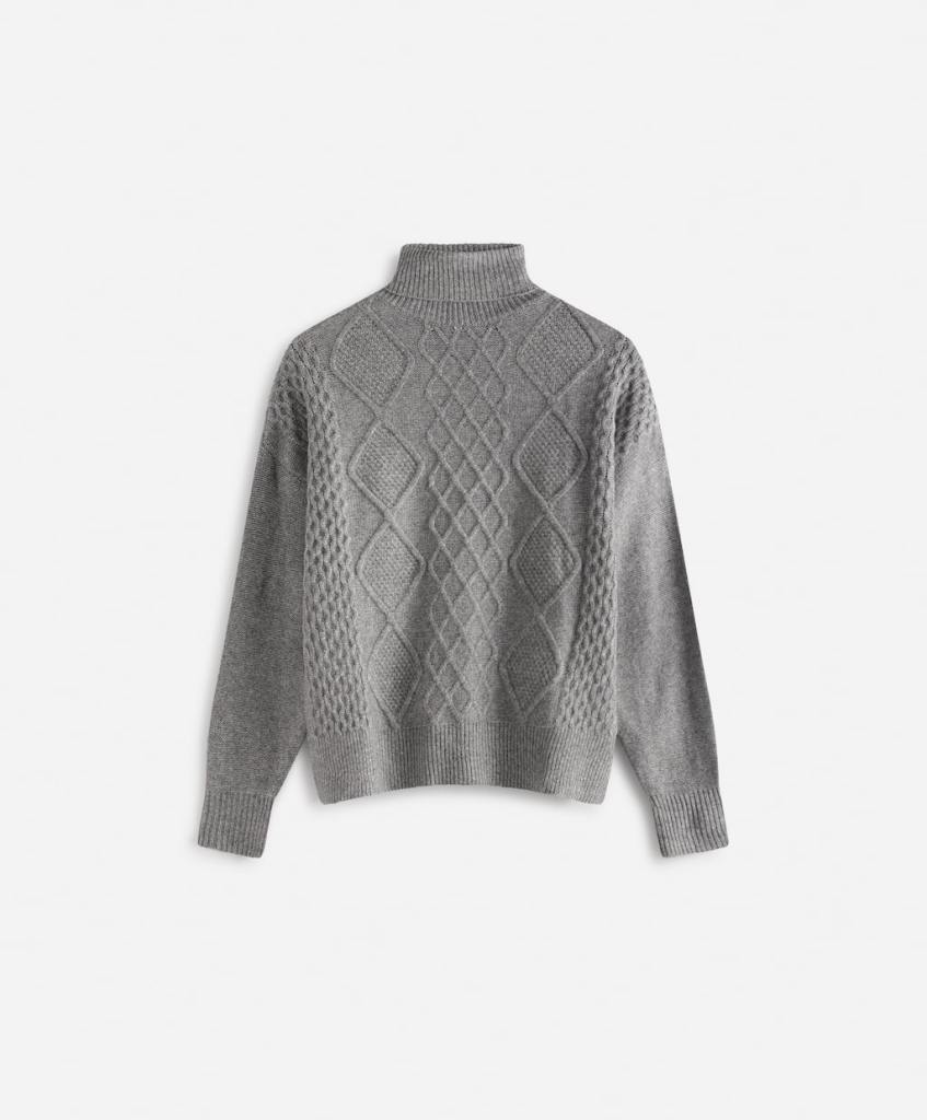 Oysho high neck knitted pattern jumper £39.99