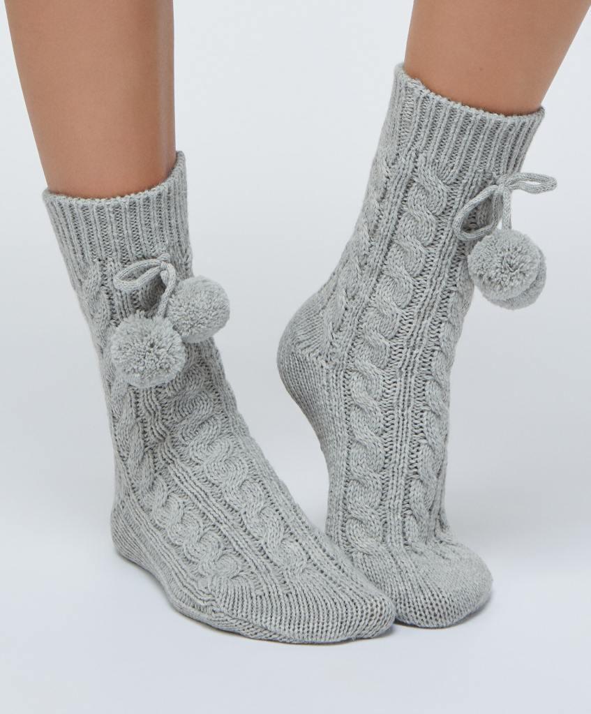 Oysho Thick Grey socks £9.99