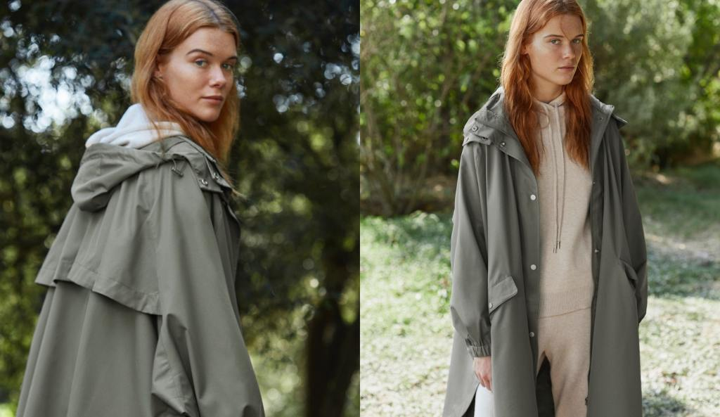 Oysho Water Repellent Cape Style Trench £69.99
