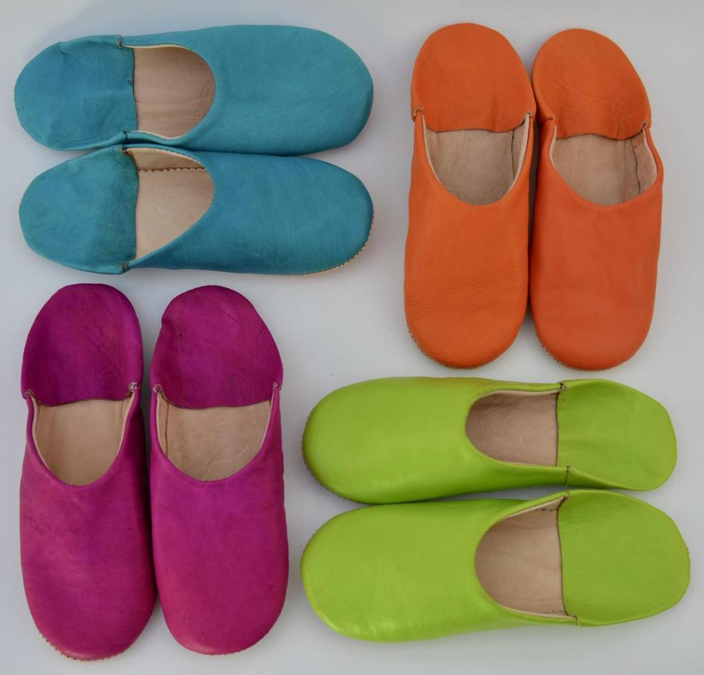 Rock the Kazbah Design Moroccan leather babouche slippers £23.99
