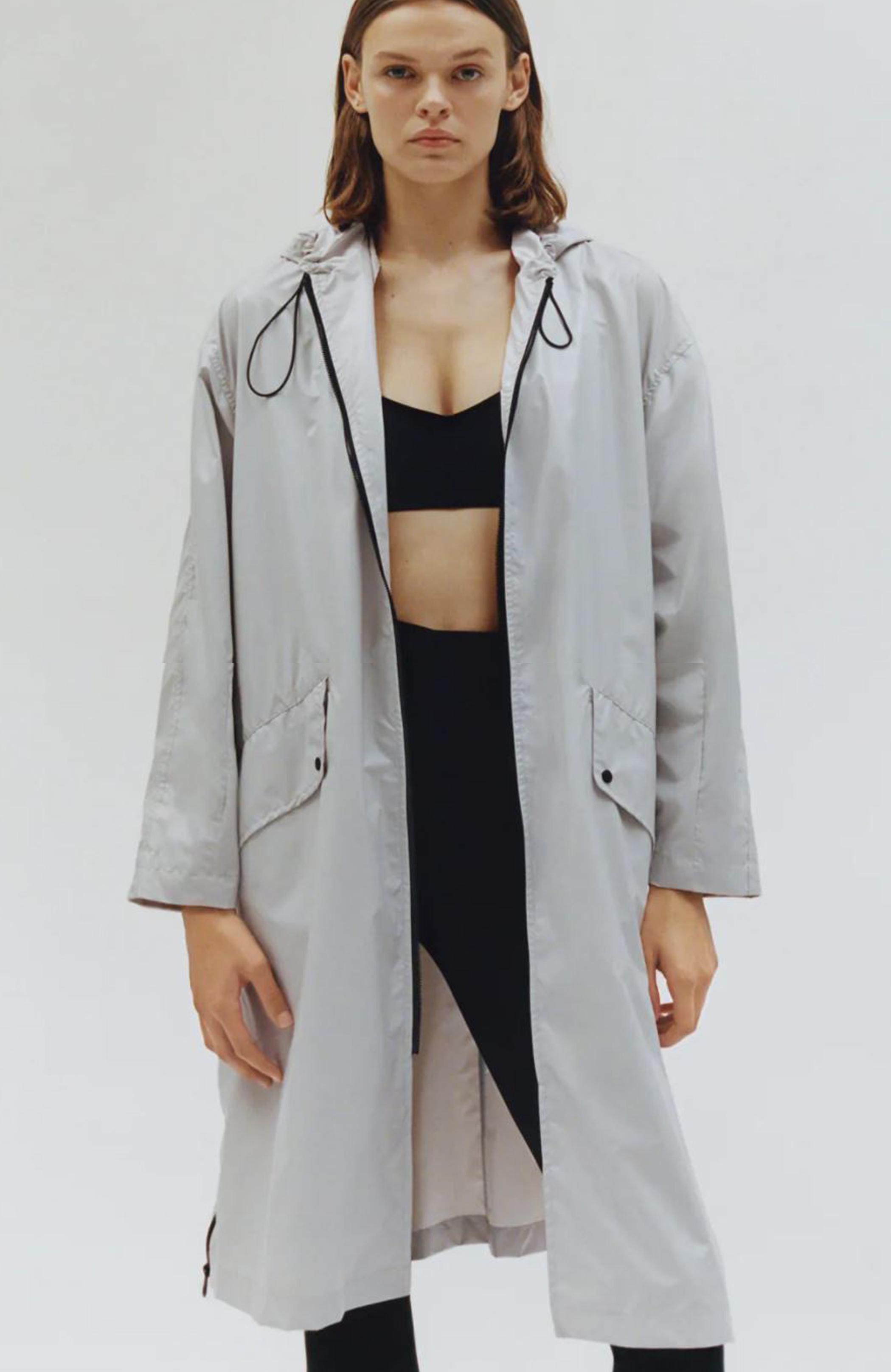 Zara Hooded Raincoat TRF £49