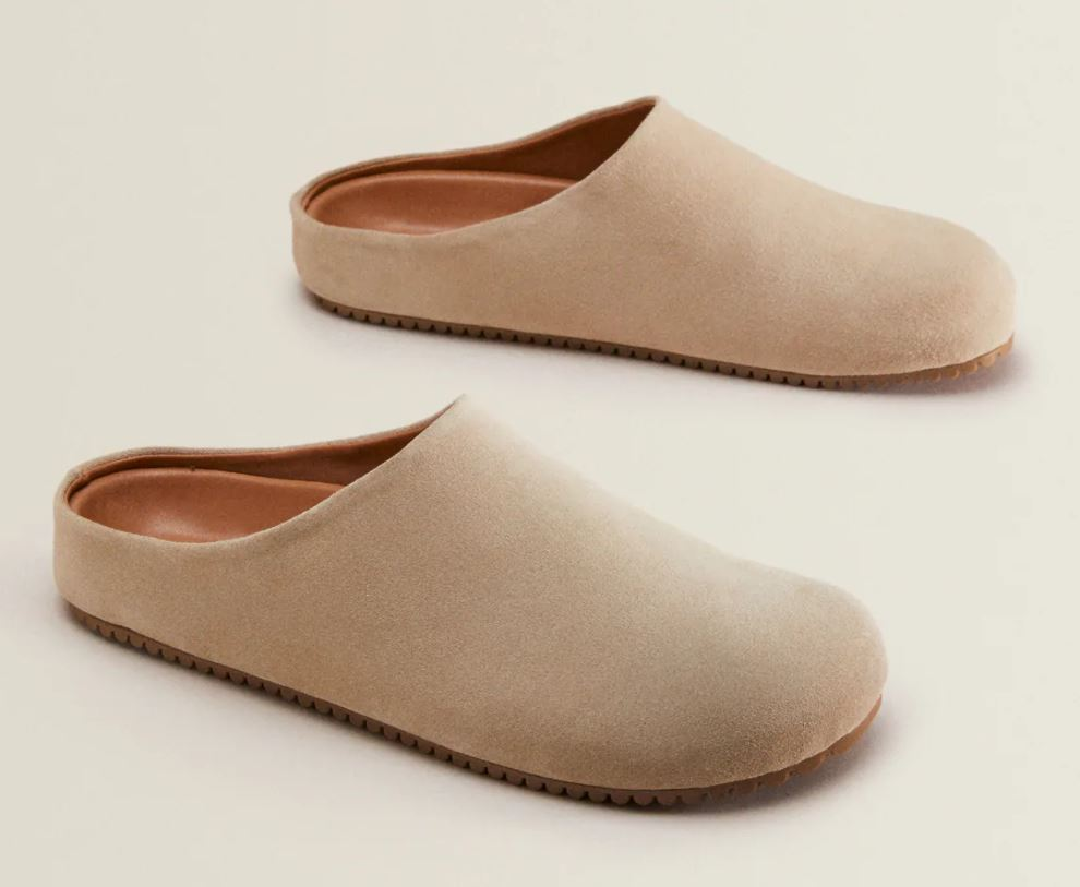 Zara Leather Clog Slippers £29.99