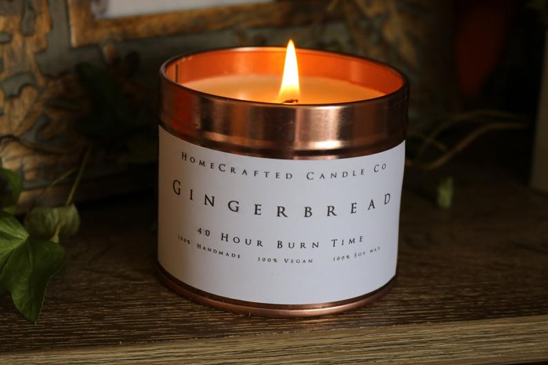 Home Crafted Candle Co Gingerbread winter soy vegan candel £6.99