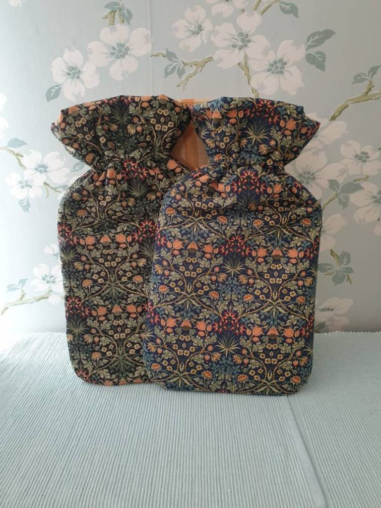 Katie Stevens Designs High quality cotton fabric hot water bottle covers £18.80+