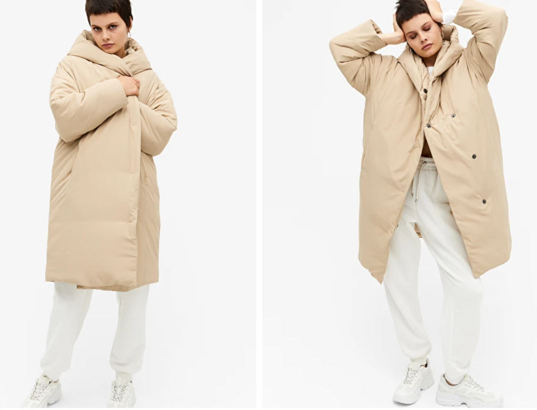 Monki Long Puffa coat £75