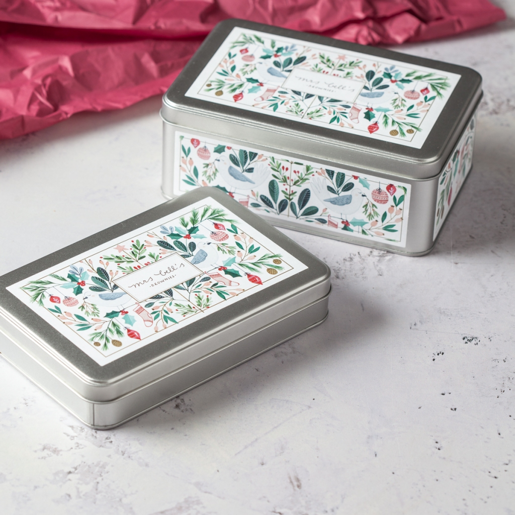 Mrs Bell's Brownies Christmas tin £15.99-£28.99