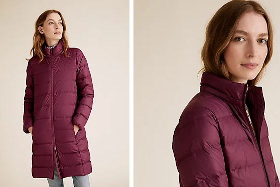 M&S Down & Feather Puffa Coat £69