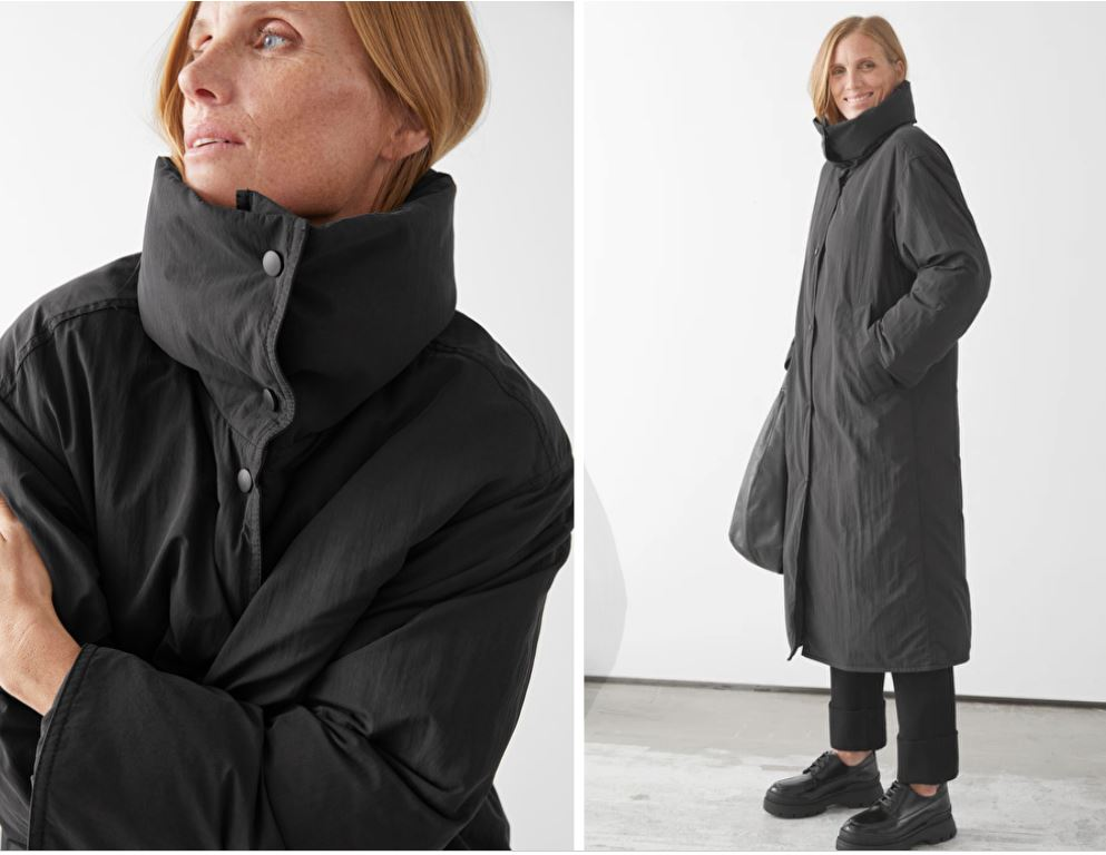 & Other Stories Oversized Boxy Long Puffer Jacket £175
