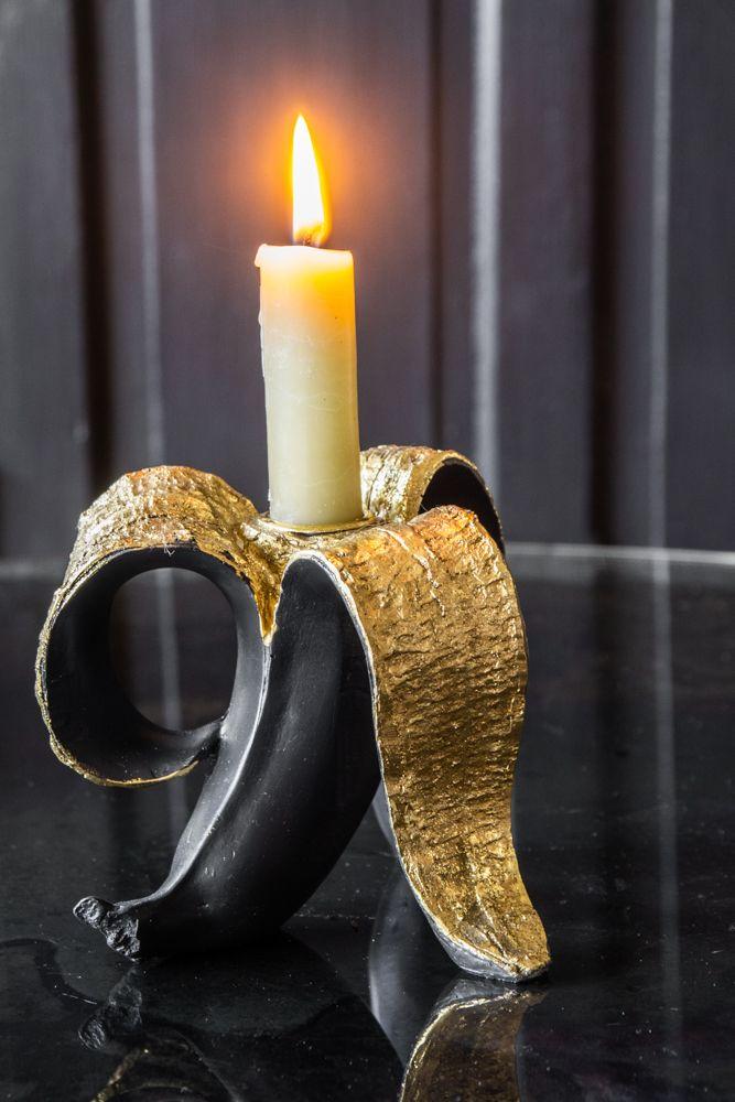 Rocket St George Black & Gold Banana candle holder £18