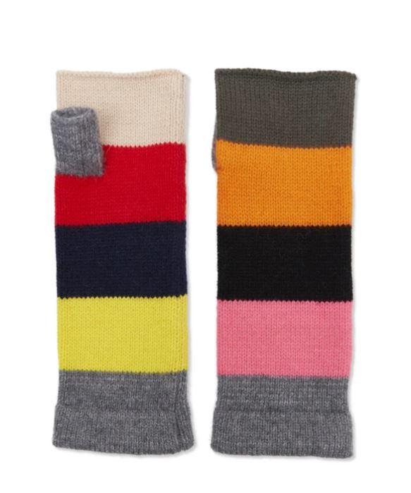 TAE Edit Block Cashmere wrist warmers £49