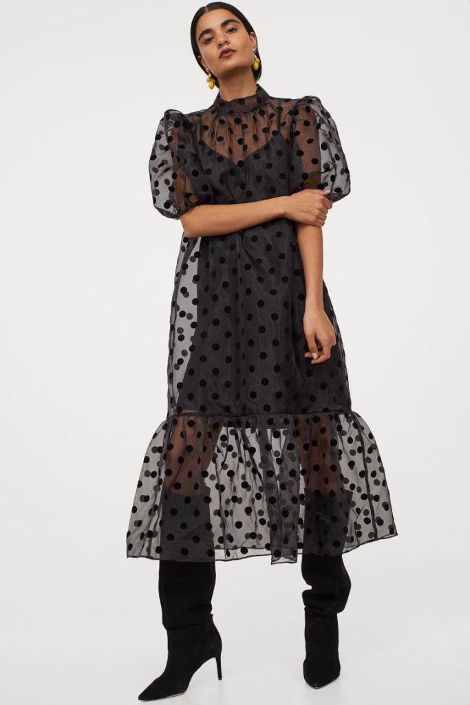 H&M Puff-sleeved organza dress £29.99