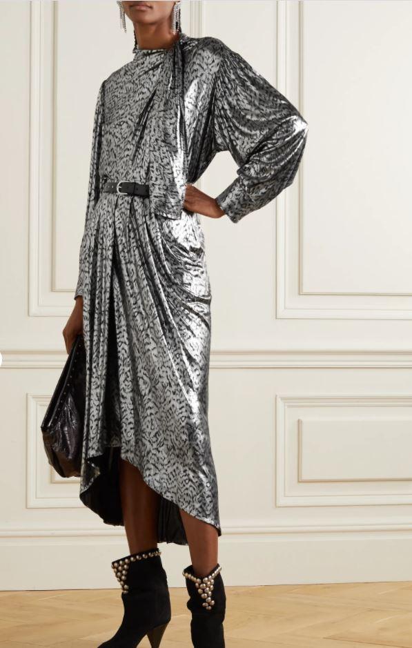 Isabel Marant Lavaliere tie-detailed lame blouse £835