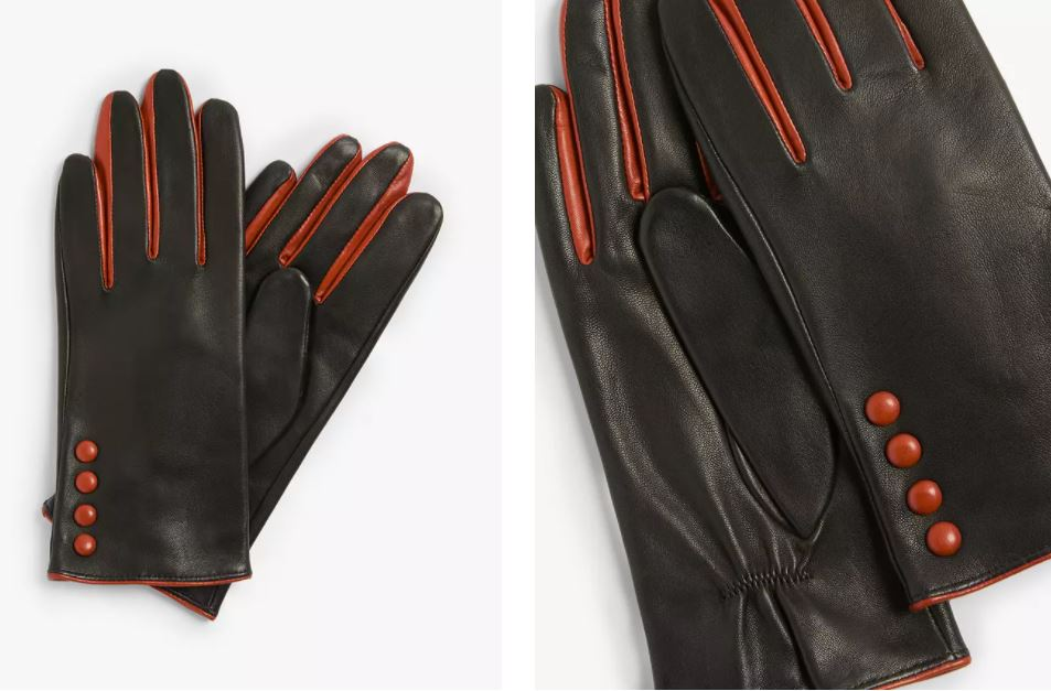 John Lewis & Partners 4 Button Colour Pop Leather Gloves £25.60