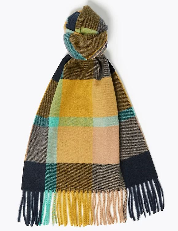 M&S Checked Scarf £12.50