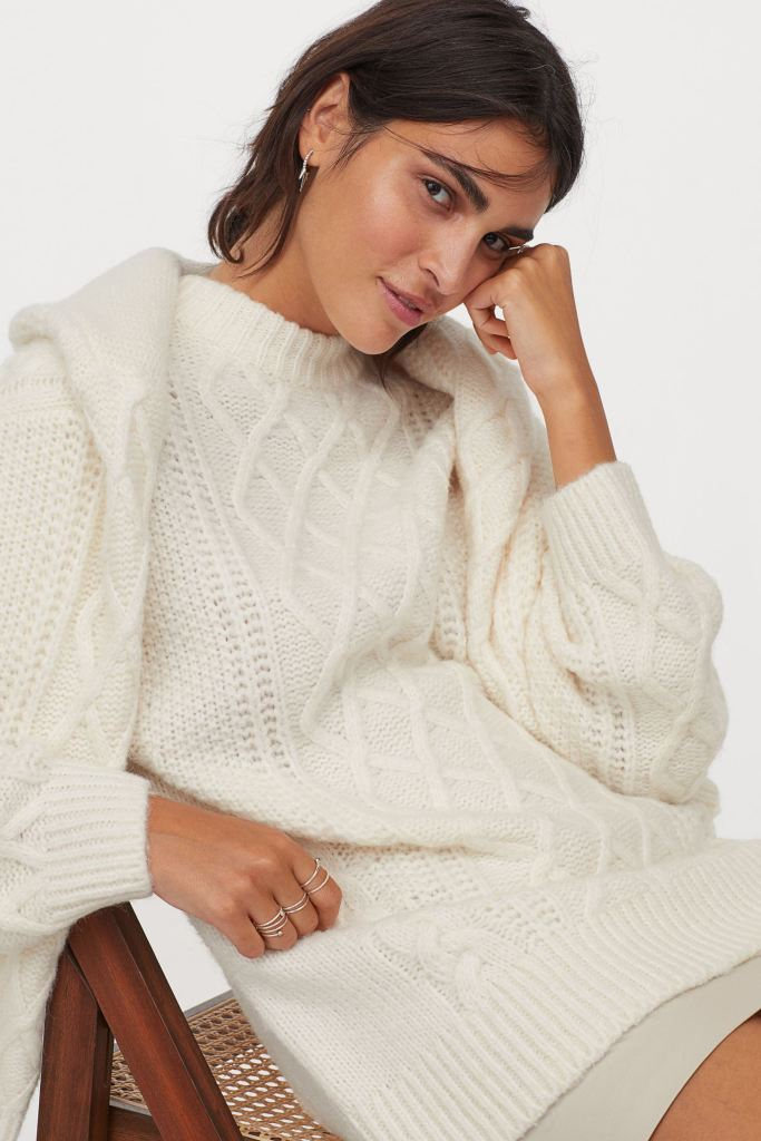 H&M Wool-blend cable Knit jumper £34.99