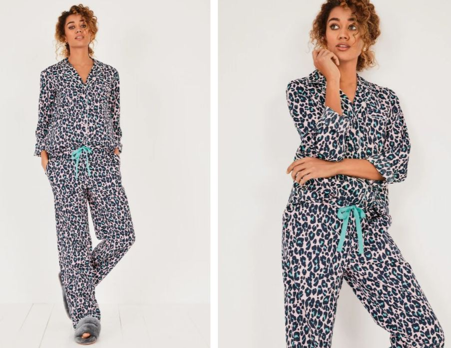 Hush Isla Printed Cotton Pyjamas £55