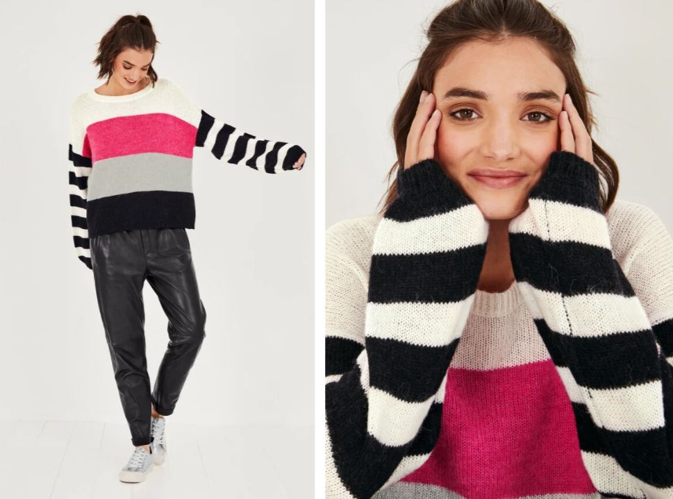 Hush Lola Colour Block Jumper £85
