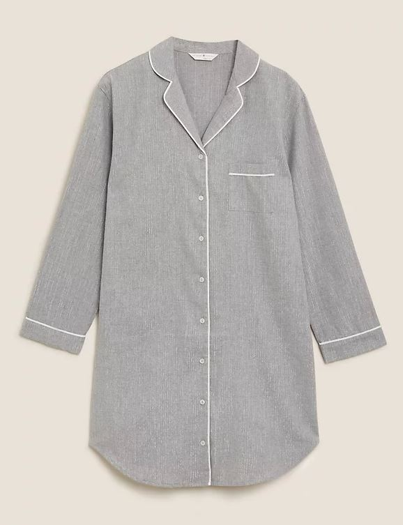 M&S Cotton Sparkle Nightshirt £18