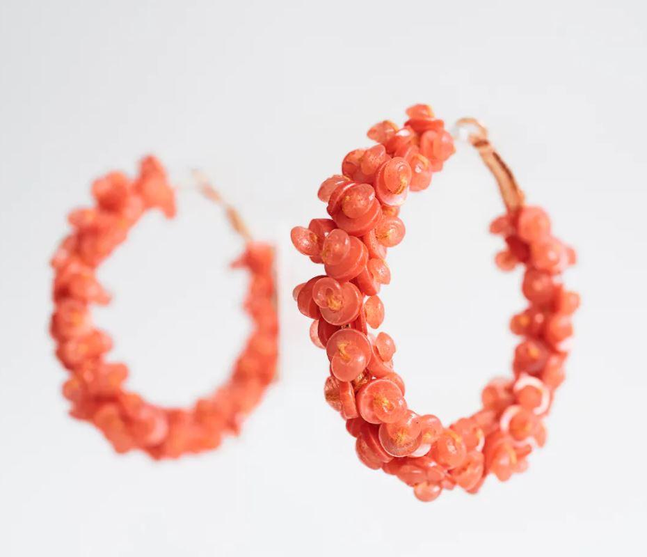 Zara beaded hoop earrings £5.99, were £12.99