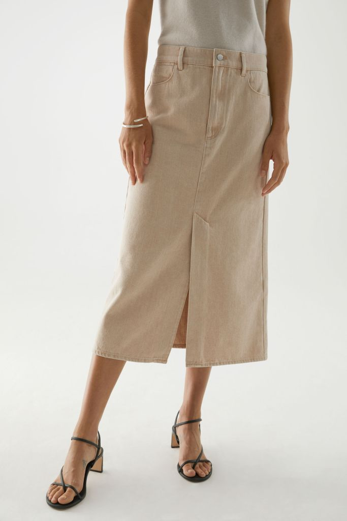 Cos organic cotton long denim skirt £59