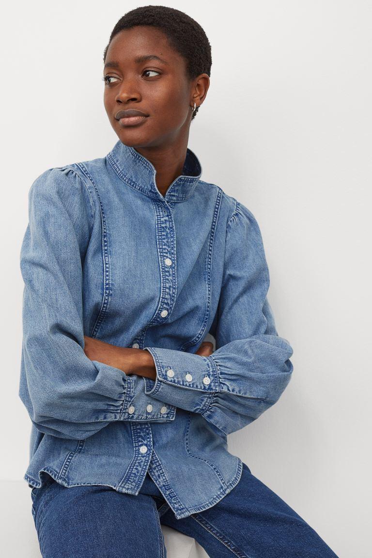 H&M Cotton denim blouse £24.99