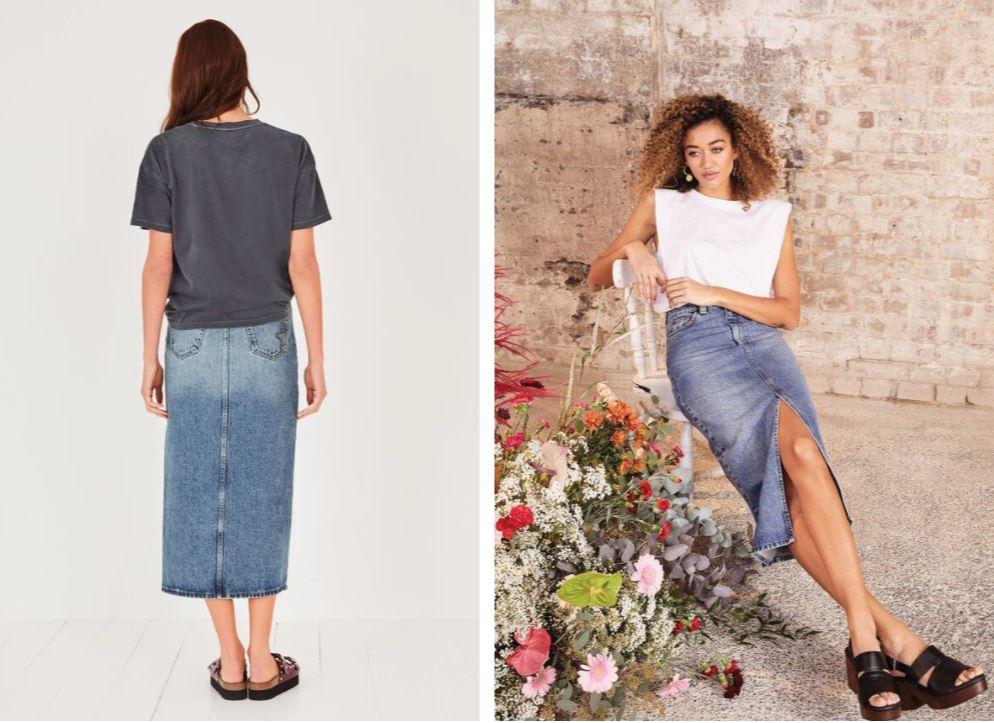 Hush Danica Denim Pencil Skirt £65