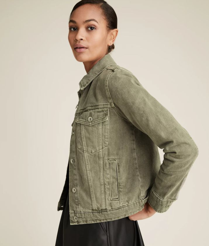 M&S Button Detailed Denim Jacket £24.50