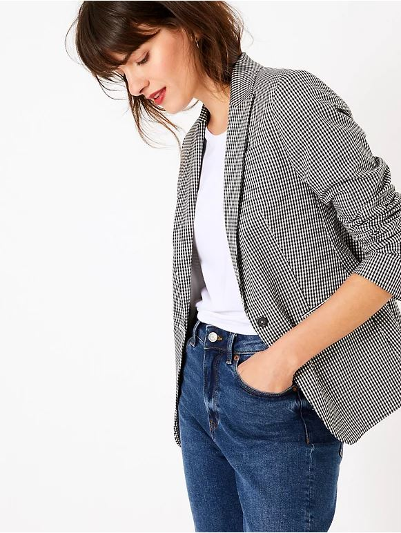 M&S Checked Single Breasted Blazer £41.30