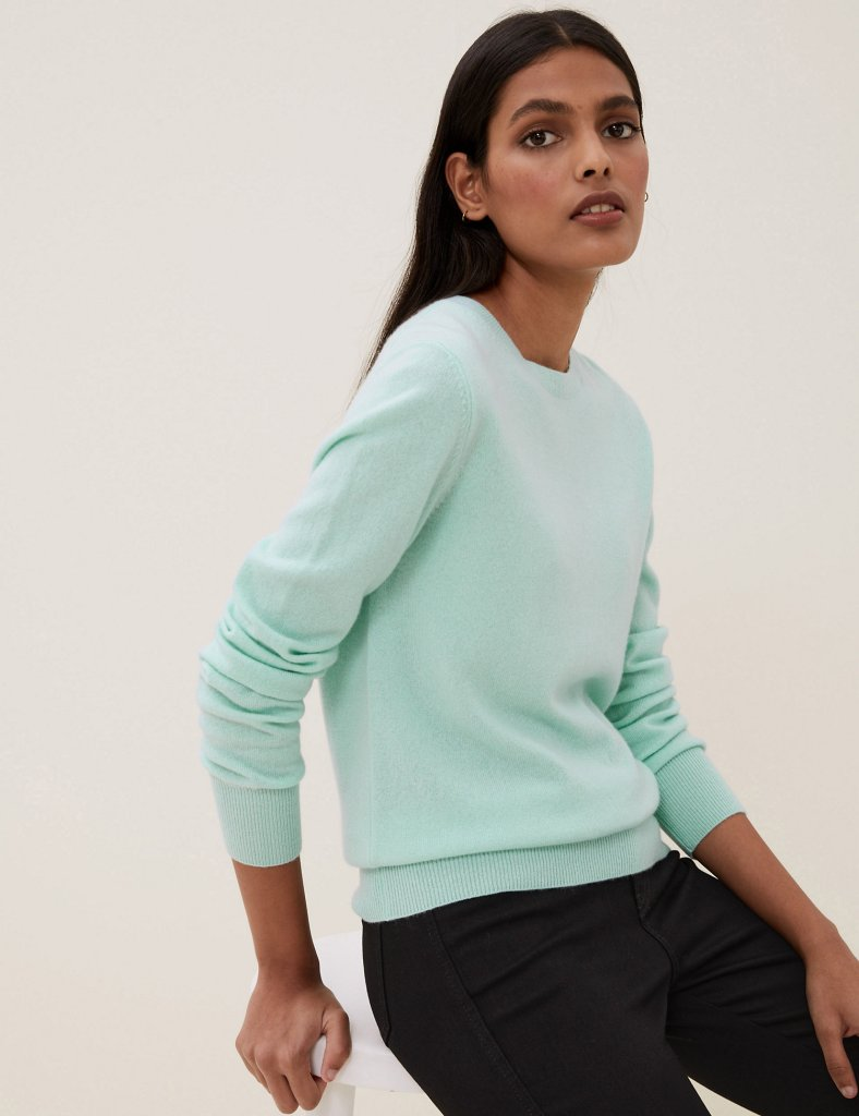 M&S Pure Cashmere round neck jumper £53.30