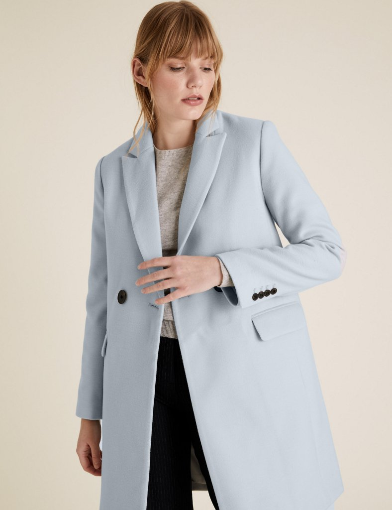 M&S Soft Touch Double Breasted City Overcoat £41.30