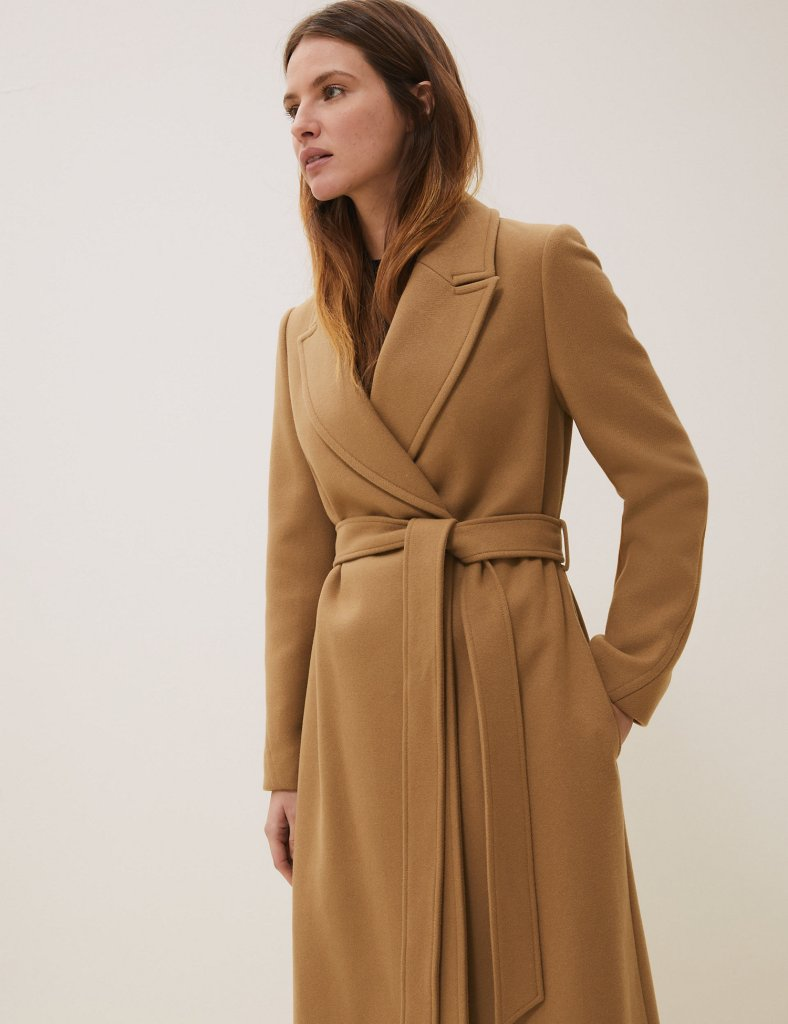 M&S Wool with Cashmere Longline wrap coat £104.30