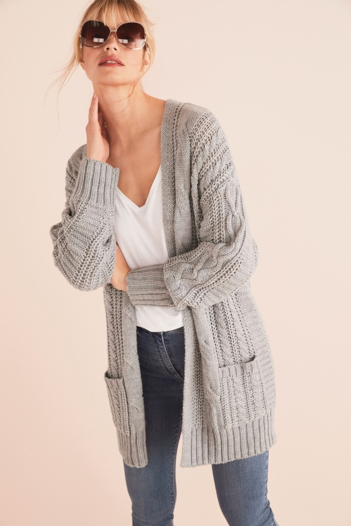 Next Cable Knit cardigan £18, or £36