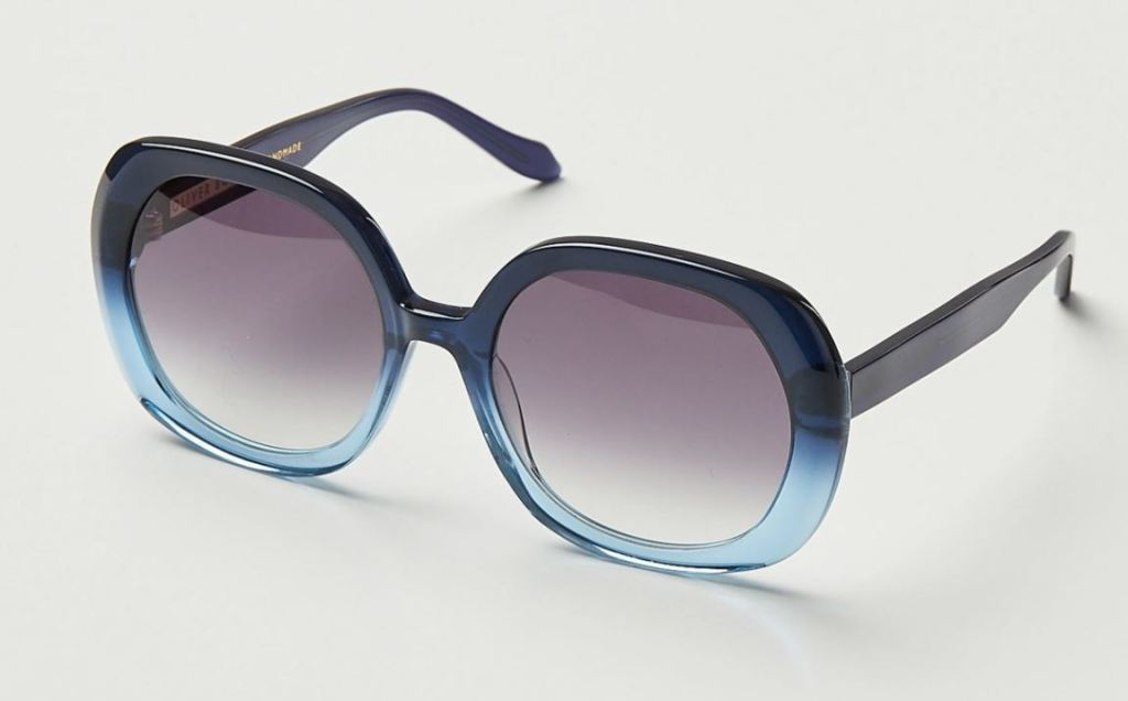 Oliver Bonas Japan Blue Ombre Acetate Blue Sunglasses £49