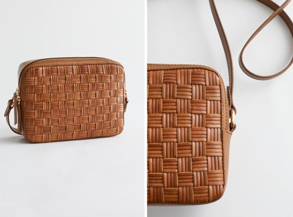 & Other Stories Geometric Braided Leather Bag £100
