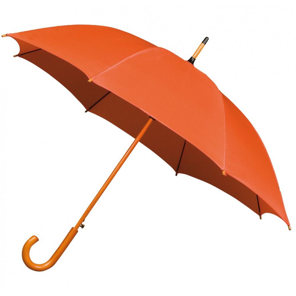 Jollybrolly Orange wood stick walking umbrella £10.99
