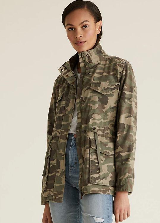 M&S Cotton Camo High Neck Utility jacket £39.50