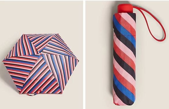 M&S Striped Stormwear Compact Umbrella £9.50