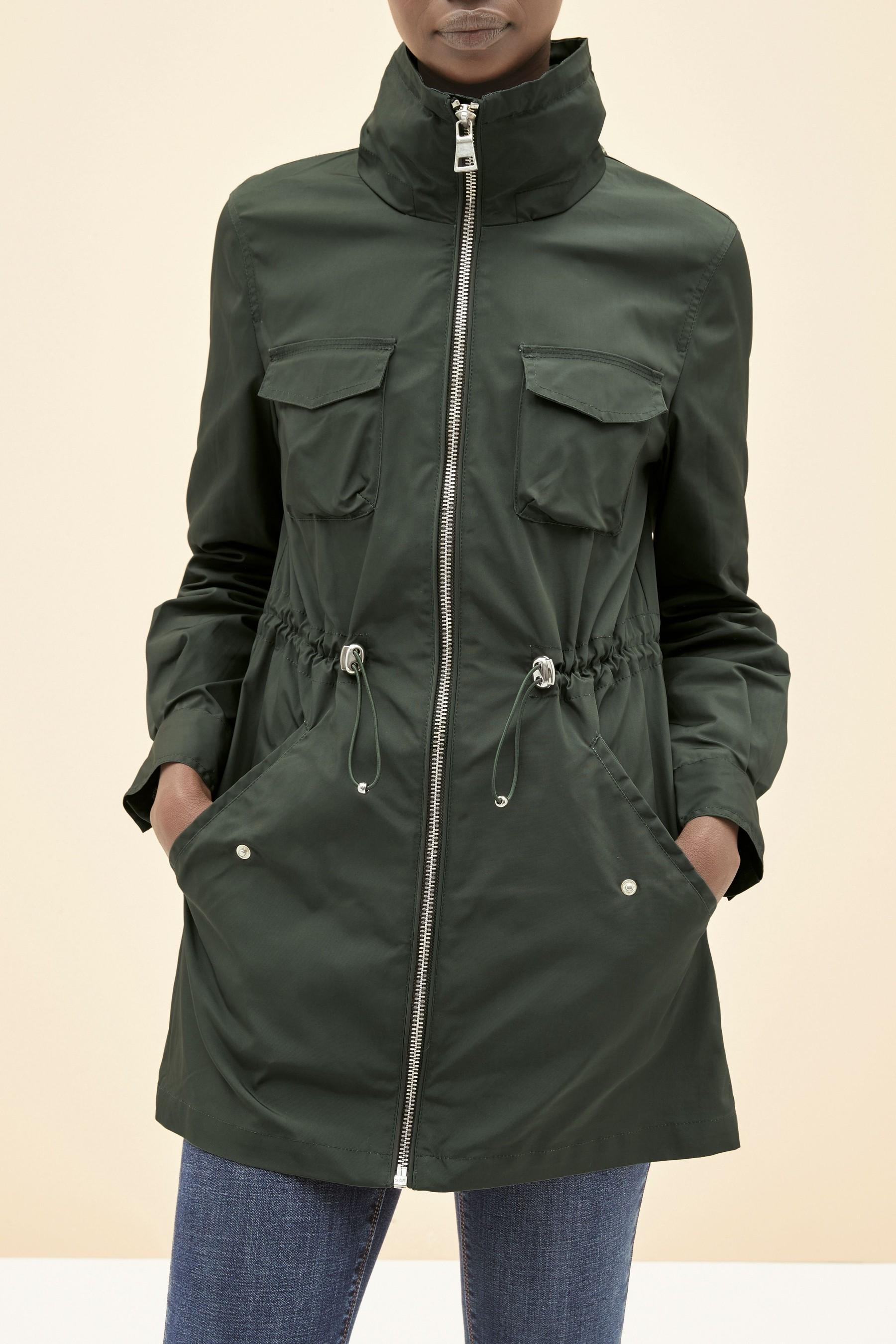 Next Khaki Glam Rain Mac £62